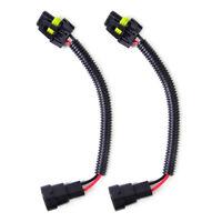 2pcs HB4 9006 9012 Extension Wiring Harness Socket Plug Wire Headlight Fog Light