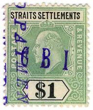 (I.B) Malaya (Straits Settlements) Revenue : Duty Stamp $1 (CBI pre-cancel)