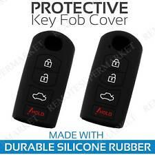 2 Key Fob Cover for 2014-2018 Mazda 3 Remote Case Rubber Skin Jacket