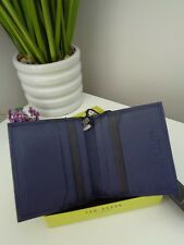BNWT TED BAKER Angel Small Blue Leather Bi Fold Card Wallet