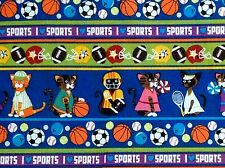 M'Liss Pets-Sports Fabric-Cats-Cotton-Various Sports-Sport Themed-I love sports