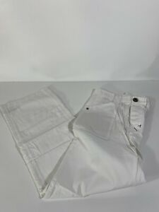 New With Tag Trovata Pants 34 White Khaki Button Fly Trousers