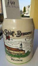 Bierkrug Brauerei Schäff,Schloß Spielberg 1996, Treuchtlingen,Altmühltal,Franken