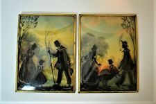 Two Vintage SILHOUETTE PICTURES 8 x 6 Inches