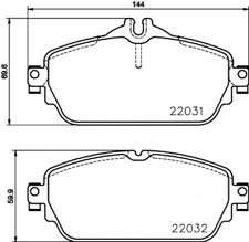 Textar Bremsbelagsatz VA für Mercedes C-Klasse W205 - Nr. 2203102