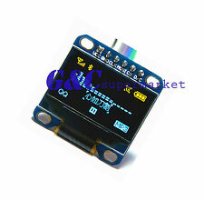 """Yellow Blue 0.96"""" SPI  128X64 OLED LCD Display Module Arduino/STM32/AVR/51 M69"""