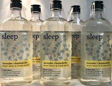 5 Bath & Body Works Aromatherapy Sleep Lavender Chamomile Body Wash & Foam Bath