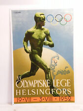 Affiche Originale Jeux Olympique de Helsinki Finlande 1952 Danemark Sysimetsa