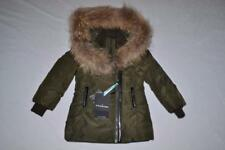 AUTHENTIC MACKAGE MINI LEE LEE GIRL'S DOWN JACKET SIZE 2T ARMY GREEN BRAND NEW