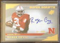 2013 SPX Super Scripts ROGER CRAIG Autograph auto 49ers Nebraska Cornhuskers