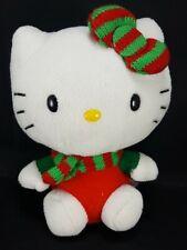 "Hello kitty Christmas Red Green Elf Plush Stuffed Animal Toy Doll Sanrio Soft 6"""