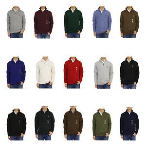 Polo Ralph Lauren Mock Neck Pullover Zip Sweat Sweatshirt Sweater - 15 colors -