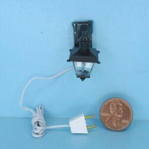 Dollhouse Miniature 12v Electric Black Porch Coach Light HW2829