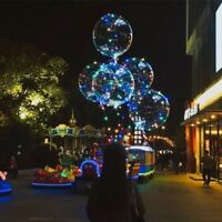 2x 30 LED Light Up Bobo Balloons Wedding Birthday Christmas Xmas Party RGB Lamps