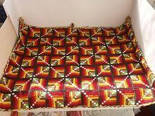 Antique Vintage Handmade Scenic Spring Tapestry / Gobelin mat scatter rug - № 2