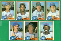 1981 TOPPS TRADED NEW YORK METS TEAM SET NM/MT  KINGMAN   STAUB   BROOKS  RC