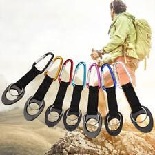 Water Bottle Holder Hook Belt Clip Buckle with Keyring Hiking Camping Carabiner