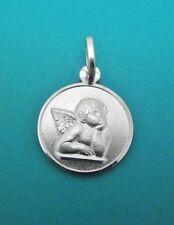 Cherub Angel Pendant 925 Sterling Silver Hallmarked 14mm Round Christian Gifts