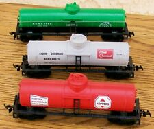 HO-3 TANK CARS-2 by LIFE-LIKE (Red & Gray), & 1 by MODEL POWER (Green)-New