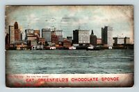 Greenfields Chocolate Candy Sponge Advertisement Vintage New York c1908 Postcard