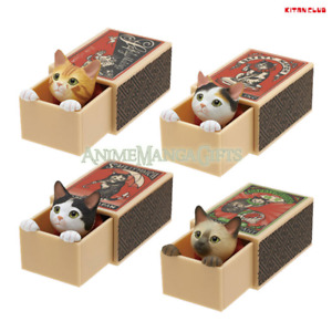 Classic Matchbox Cat Retro Vintage Style Collectible Toys (Complete Set of 4)