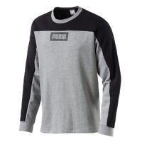 Puma Rebel Block Crew TR Herren Sweatshirt Lifestyle Urban Streetwear Neu OVP