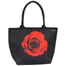 Tasche Shopper Bag Blume Hochzeit rot schwarz Damen Geschenk Blüte Rose 4162