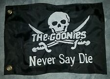 """Custom GOONIES NEVER SAY DIE 12""""x18"""" Safety Flag for UTV, ATV, Boat, whip, pole"""