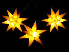 3er LED Außen-Stern-Set gelb Außenstern Adventsstern Weihnachtsstern Outdoor