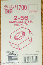 Kadee #1700 / 2-56 Stainless Steel Hex Nuts (12 in Package)