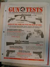 Gun Tests Magazine Dec 2001 Best Pistol Revolver Rifle Shotgun of the Year +++