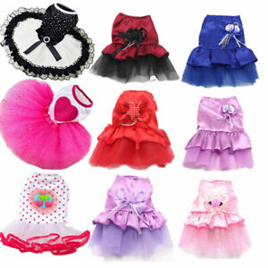 19 Colors Pet Cat Dog Tutu Skirt Princess Lace Puppy Vest Dress Apparel Clothes