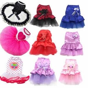 19 Colors Pet Cat Dog Tutu Skirt Princess Lace Puppy Vest Dress Apparel Clothes