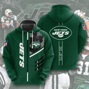 New York Jets Fan's Hoodie Football Hooded Sweatshirt Pullover Casual Jacket