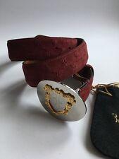 Billionaire Italian Couture Mens Belt 100% SUEDE bordea color size: 90 (S)