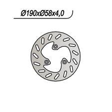 DISCO FRENO ANT. NG 303 97 PIAGGIO NGR FERRARI 50 65.9303 190/80/58/4/-/3/8,5 FI
