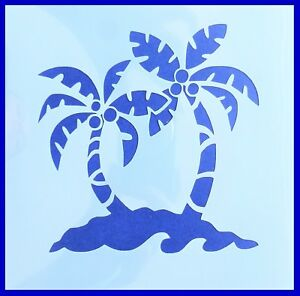 Flexible Stencil *TROPICAL PALM TREE* Small or Medium Card Making Crafts