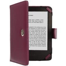 Techgear ® Púrpura de Cuero PU Folio Estuche Cubierta Kindle Con Cierre Magnético para ama
