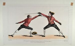 Angelo 1763 L'Ecole des Armes Fechten Fencing Escrime - Original antique print