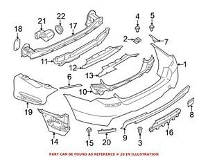 For BMW Genuine Reflector Panel Rear Left 63147842956