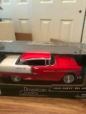 Motor Max American Classics 1955 Chevy Bel Air 1/24 Mint in Box Red & White