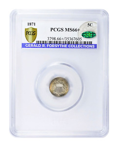 1871 Shield Nickel PCGS MS-66+ CAC (Gerald Forsythe Collection)