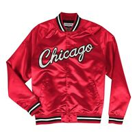 Mitchell & Ness Scarlet NBA Chicago Bulls Lightweight Satin Jacket