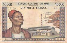 More details for #banque centrale du mali 10000 francs 1970 p-15 af bamako