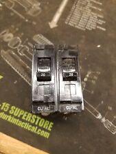 2 - Ge Type Tql 20 Amp Breakers
