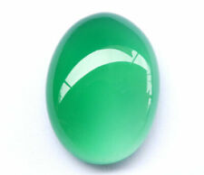 14.80ct DELIGHTFUL Natural African Oval Cab Jungle Green Chalcedony !