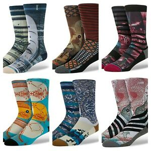 NEW Stance D Wade Collection Socks Mens Dress Casual 200 Needle Combed Cotton Sz