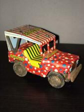 Vintage Tin Circus Jeep Friction Car.  Japan