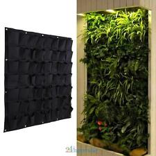 56 Pockets Hanging Vertical Garden Planter Indoor Outdoor Herb Pot Bag Decor AU
