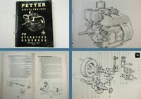 Petter Diesel Engine Type PH Operators Handbook Service Manual